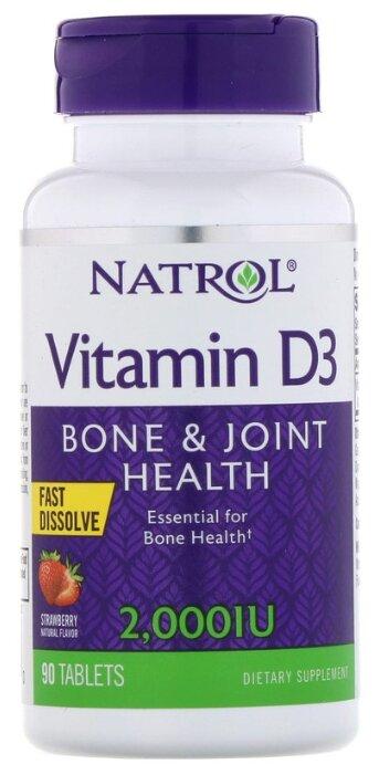 Витамины и минералы Natrol Vitamin D3 2000 IU 90 табл. Нейтральный