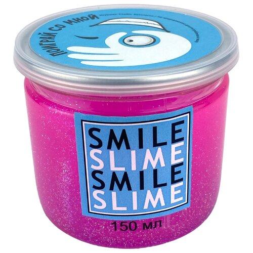 Купить Жвачка для рук Smile Slime с блестками малиновый, Игрушки-антистресс