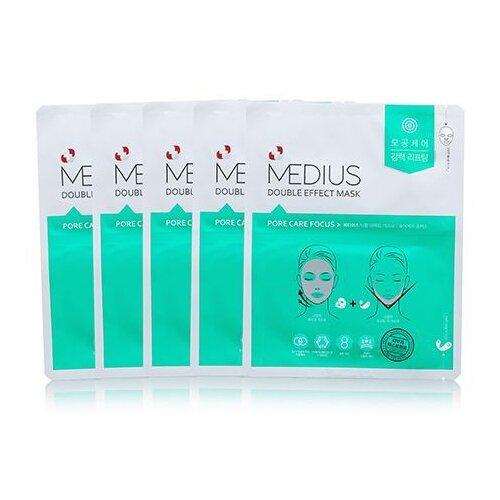 MEDIUS Двойная маска для ухода за порами Pore care Focus 25 мл 5 шт..
