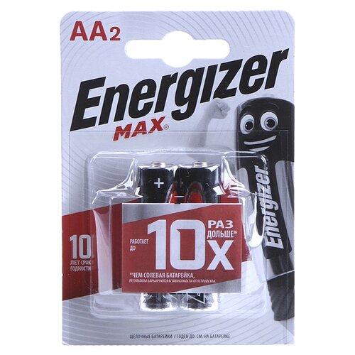 Фото - Батарейка Energizer Max AA/LR6 2 шт блистер батарейка duracell turbo max aa lr6 4 шт блистер