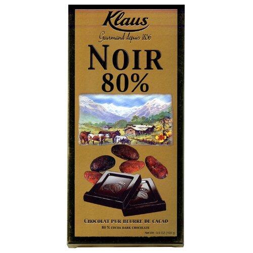 шоколад klaus горький 80% какао 100 г Шоколад Klaus горький 80% какао, 100 г