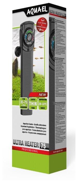 Цилиндрический нагреватель AQUAEL ULTRA HEATER 75W (35-75 л)