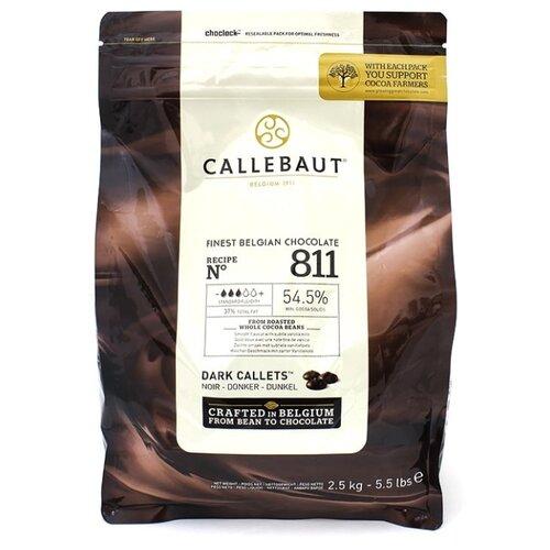 Callebaut Темный шоколад №811 54.5% 2500 г коричневый