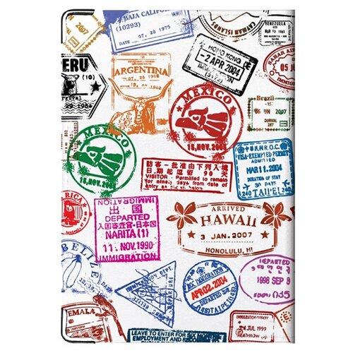 Обложка для паспорта MADAPRINT Бывалый 100% натуральная овечья кожа