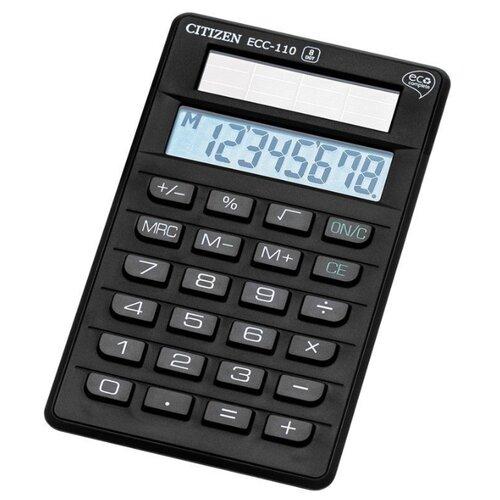 Купить Калькулятор карманный CITIZEN ECC-110 черный