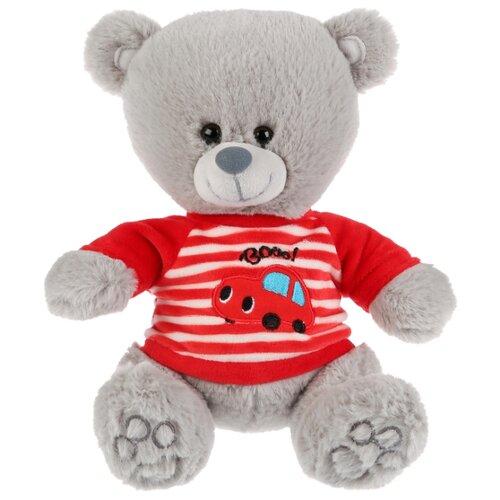 Купить Мягкая игрушка Мульти-Пульти Медведь в футболочке с машинкой стихи и песни А.Барто 22 см, Мягкие игрушки