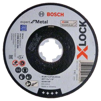 Диск отрезной 125x1.6x22.23 BOSCH X-lock Expert for Metal 2608619254 — купить по выгодной цене на Яндекс.Маркете