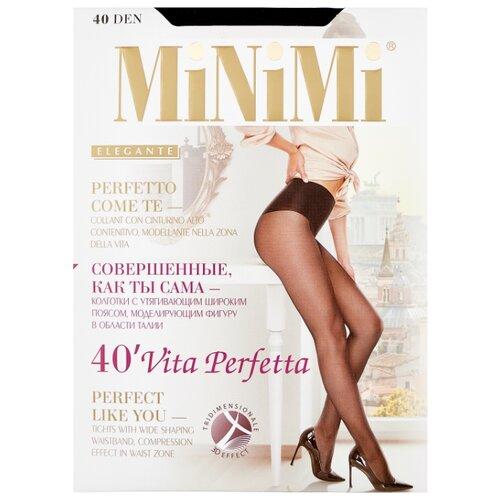 Колготки MiNiMi Vita Perfetta 40 den, размер 2-S/M, nero (черный) колготки minimi control top 40 den размер 2 s m nero черный