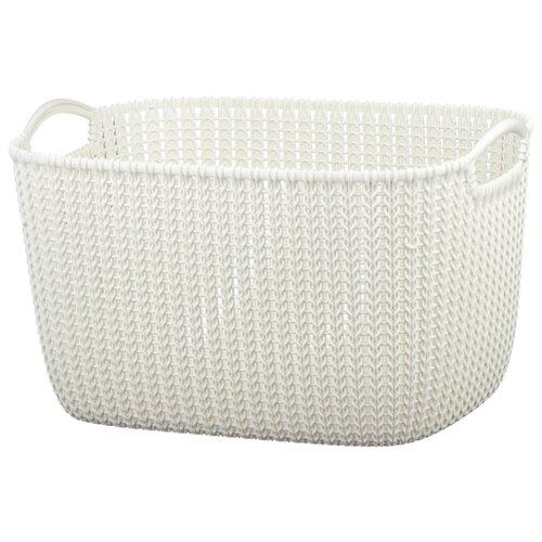 CURVER Корзина Knit 30x40x23см белый