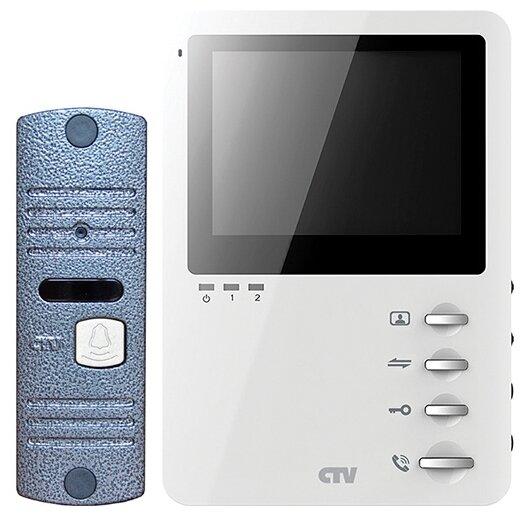 Комплектная дверная станция (домофон) CTV-DP1400M синий (дверная станция) белый (домофон)