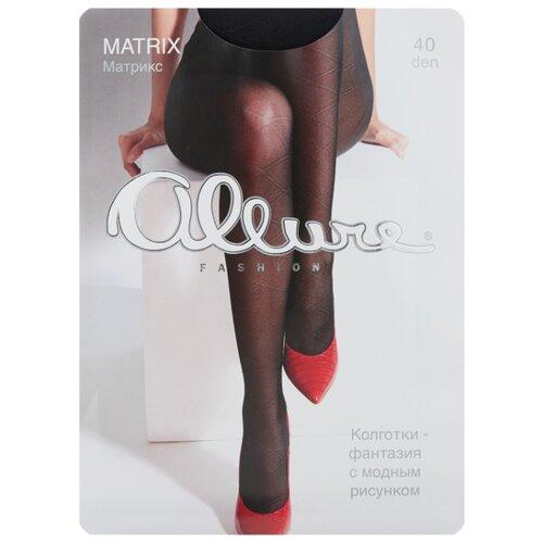 Колготки ALLURE Fashion Matrix 40 den, размер 2, nero (черный)