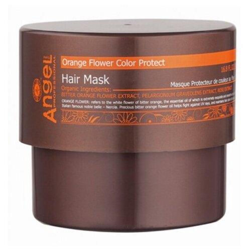 Купить Angel Provence Маска для волос защита цвета с цветком апельсина, 500 мл