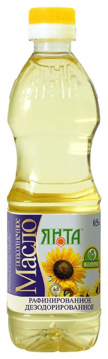 ЯНТА Масло подсолнечное рафинированное дезодорированное