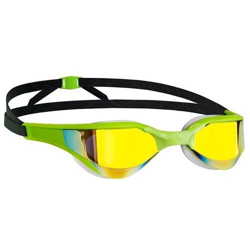 Очки для плавания MAD WAVE Razor Rainbow green/black очки для плавания mad wave triathlon azure clear black