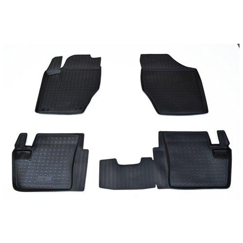 Комплект ковриков NorPlast NPA11-C64-350 4 шт. черный