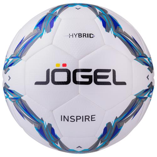 Футбольный мяч Jogel Inspire белый/голубой/серый 4
