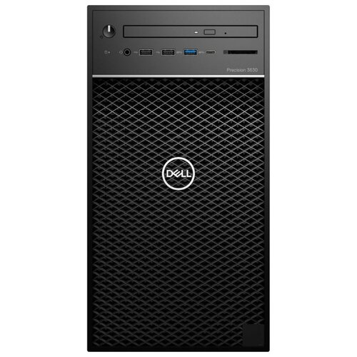 Настольный компьютер DELL Precision 3630 MT (3630-5932) Mini-Tower/Intel Xeon E-2224/16 ГБ/256 ГБ SSD+1 ТБ HDD/NVIDIA Quadro P1000/Windows 10 Pro черный компьютер dell precision t7820 silver 4110 32gb 2000gb hdd 256gb ssd win10pro 7820 2745