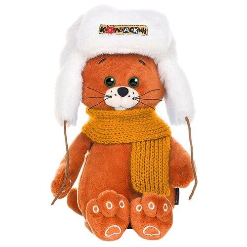 Купить Мягкая игрушка Maxitoys Колбаскин в шапке и оранжевом шарфе 25 см, Мягкие игрушки