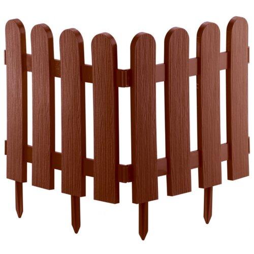 Забор декоративный PALISAD Классика, терракот, 2.24 х 0.29 м