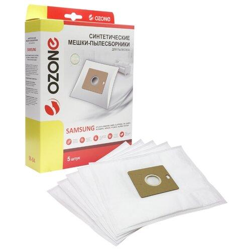 Ozone Синтетические пылесборники M-04 5 шт. ozone microne m 57 пылесборник для пылесосов bork 8 шт