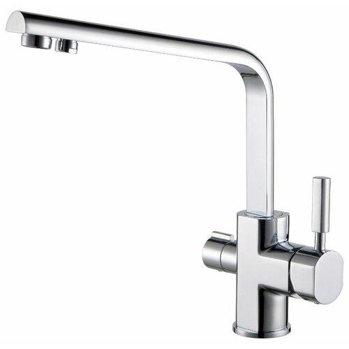 Смеситель для кухни (мойки) KAISER Decor 40144 chrome однорычажный смеситель для кухни с подключением к фильтру kaiser decor 40144 5