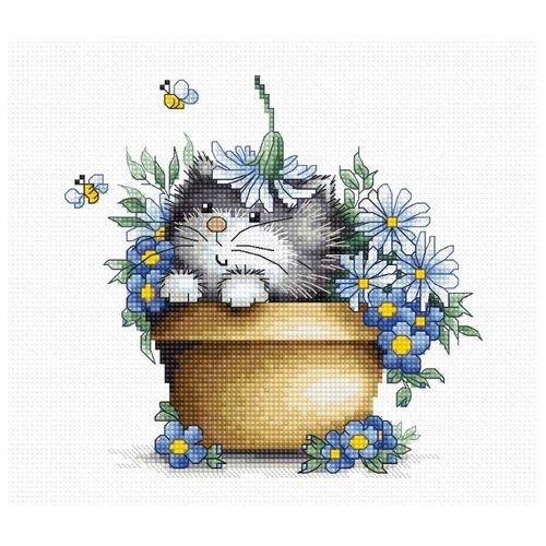 Фото - Luca-S Набор для вышивания Котенок, 16 x 15 см, B1048 набор для вышивания luca s b548 клёвое место