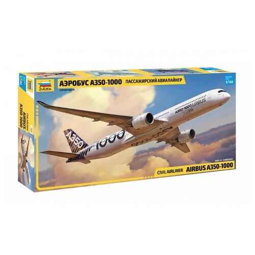 Купить Сборная модель ZVEZDA Пассажирский авиалайнер Аэробус А-350-1000 (7020) 1:144, Сборные модели