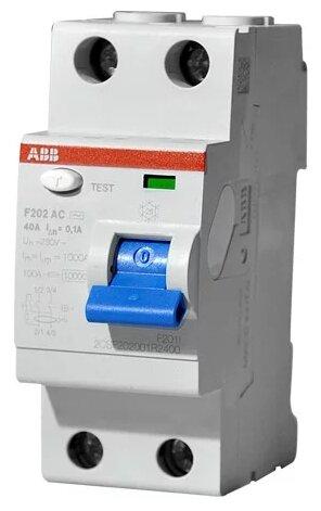 УЗО ABB 100мА тип AC F202 2 полюса