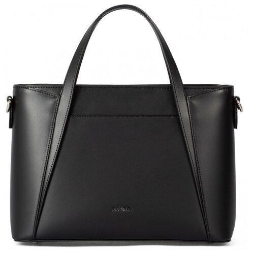 Сумка сэтчел Afina, натуральная кожа, черный сумка afina afina af004bwssy21