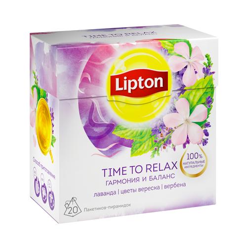 Фото - Чайный напиток травяной Lipton Time to relax в пирамидках, 20 шт. чай травяной леторос душевный разговор в пирамидках 20 шт