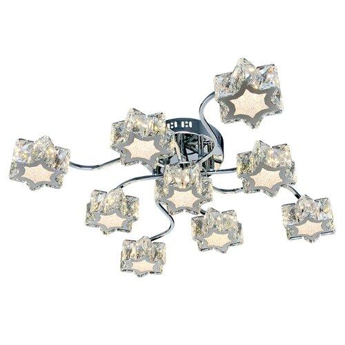 Люстра светодиодная Максисвет Геометрия 1-1693-9-CR Y LED, LED, 72 Вт люстра максисвет геометрия 1 1696 6 cr y led