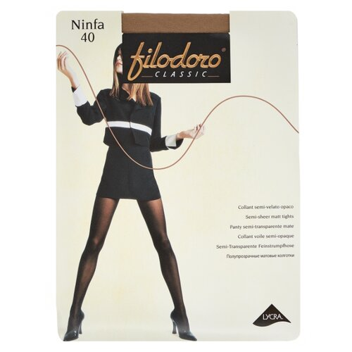 Колготки Filodoro Classic Ninfa 40 den, размер 5-XL, playa (бежевый) колготки filodoro classic ninfa 40 den размер 5 xl playa бежевый