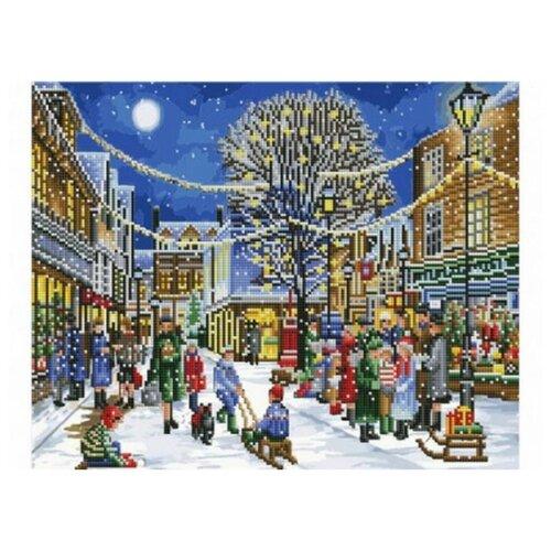 Купить Рыжий кот Набор алмазной вышивки Зимние забавы (ACK021) 40х50см, Алмазная вышивка