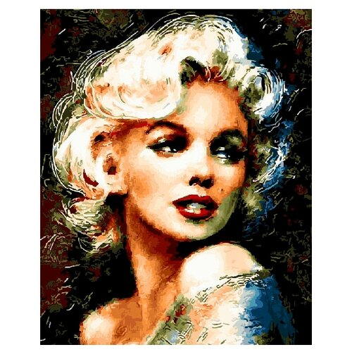 Купить ВанГогВоМне Картина по номерам Мэрилин , 40х50 см (ZX 20859), Картины по номерам и контурам