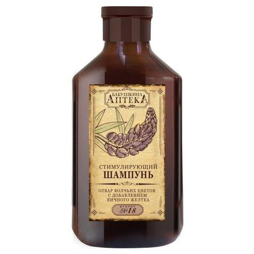 Фото - Бабушкина Аптека шампунь Стимулирующий Рецепт № 18 отвар волчьих цветов с добавлением яичного желтка 350 мл аптека