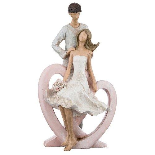 цена Статуэтка Арти М Влюбленные 162-519, 25 см бежевый/белый/розовый онлайн в 2017 году