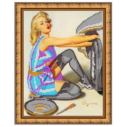 Светлица Набор для вышивания бисером У машины 19 х 24 см, бисер Чехия (291)