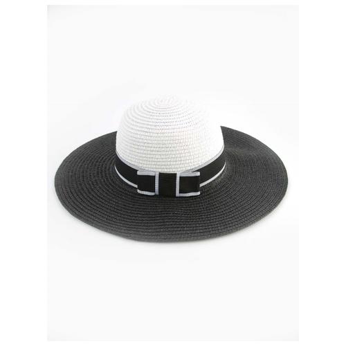Купить Шляпа Jane Flo размер 52-54, белый/черный, Головные уборы