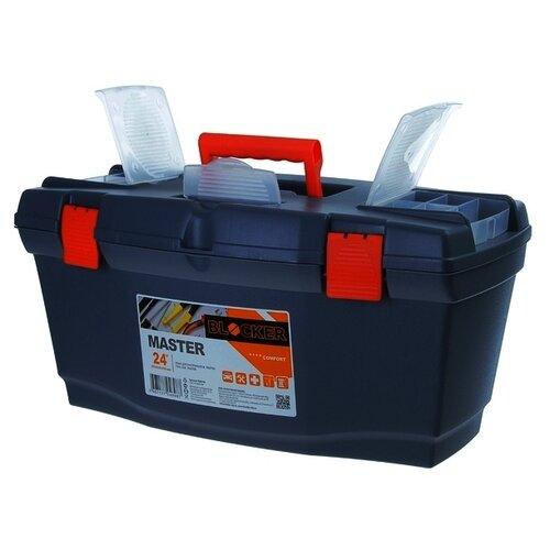 Ящик с органайзером BLOCKER Master BR6006 61x32x30 см 24'' черный/оранжевый ящик с органайзером blocker master br6006 61x32x30 см 24 серо свинцовый оранжевый