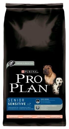 Корм для пожилых собак Purina Pro Plan для здоровья кожи и шерсти, лосось с рисом