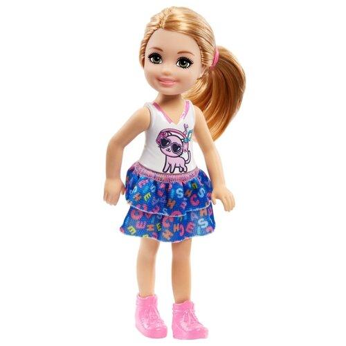 Купить Кукла Barbie Клуб Челси Рыжеволосая в топе с котенком, 14 см, FRL82, Куклы и пупсы