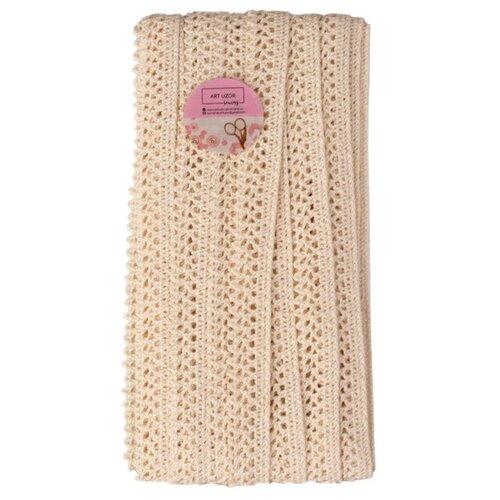 Купить Кружево Арт Узор вязаное пришивное 15 мм, 15 м (1682730) бежевый, Декоративные элементы