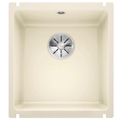 Врезная кухонная мойка 40.4 см Blanco Subline 375-U Ceramic PuraPlus с клапаном-автоматом 523727 магнолия кухонная мойка blanco axon ii 6 s керамика чаша справа черный puraplus с клапаном автоматом