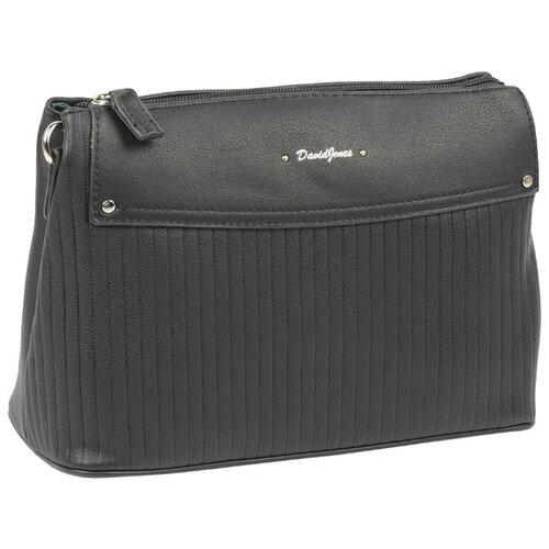 Сумка кросс-боди DAVID JONES 6124-1, искусственная кожа сумка женская david jones цвет серый 5643 1 d grey