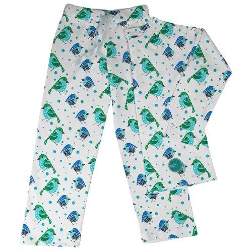 Фото - Пижама Marengo Textile размер 128, белый/синий/зеленый пижама marengo textile размер 128 зеленый белый розовый