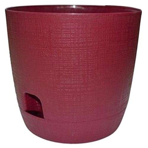 Горшок ТЕК.А.ТЕК Twist 320, 3.3 л, 19х17.5 см бордовый