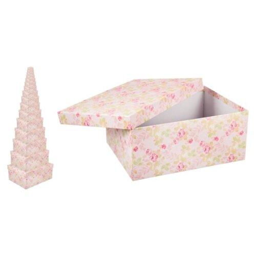 Набор подарочных коробок Русские подарки Розы 189706, 16 штук розовый набор для вина русские подарки 4 предмета подарочная упаковка