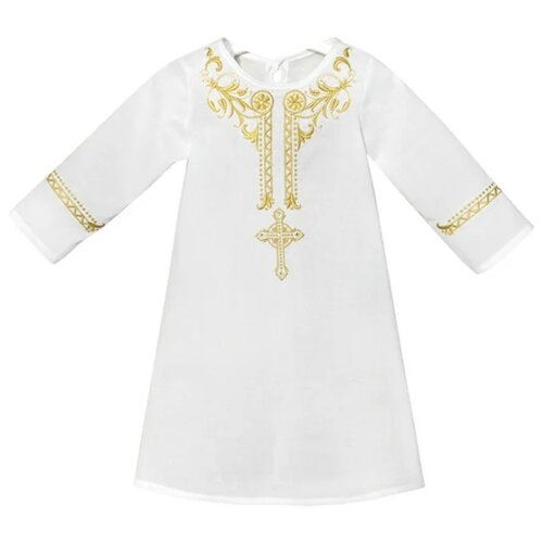 Фото - Рубашка Золотой Гусь размер 62-68, белый/золотой золотой гусь комплект зая зай 3 предмета розовый
