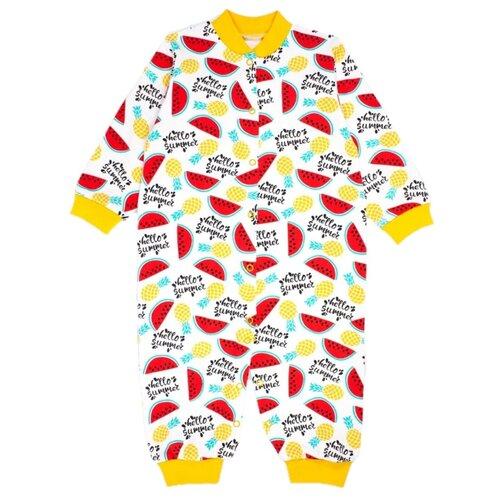 Купить Комбинезон Веселый Малыш размер 86, желтый/красный/белый, Комбинезоны