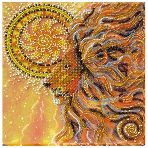 Купить ABRIS ART Набор для вышивания бисером Солнцелев 20 х 20 см (AMB-021), Наборы для вышивания